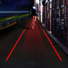 High Quality Bicycle Laser Tail Light Bike Safety Red Rear Warning Light Cycling Caution luz bicicleta led(China)