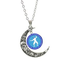 NEW novelty cute cartoon Fencing pendant men women necklace fashion moon charms  Swordsman sports lover choker jewelry SP64