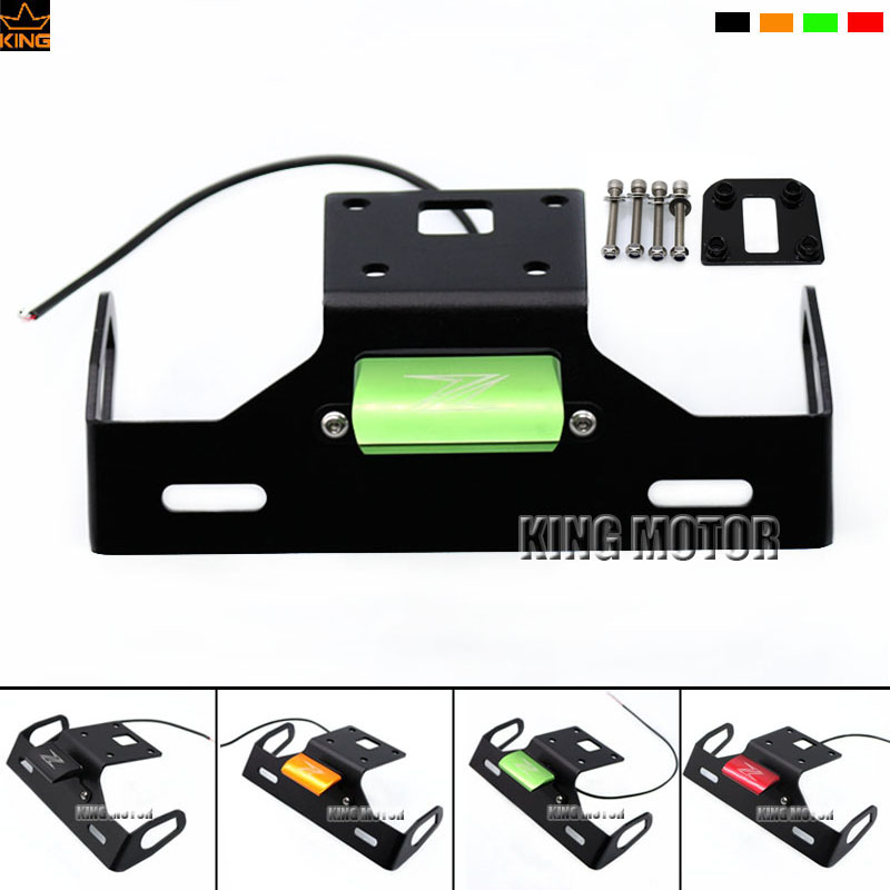 For KAWASAKI Z800 2013-2016 Tail Tidy Fender Eliminator Registration License Plate Holder LED Light Green<br>