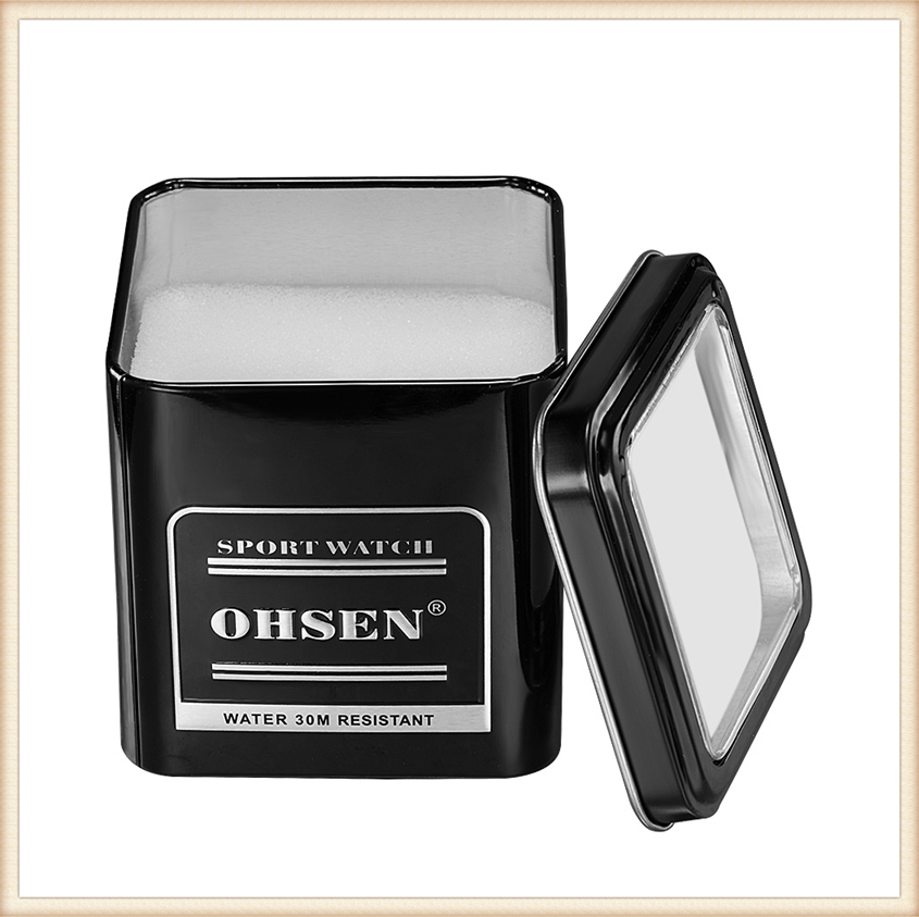 1PCS Fashion 100% Original OHSEN Watch Boxes Good Quality Protect Watch Metal Gift Box Freeshipping with OHSEN LOGO Dropshipping (19)