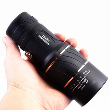 Black Single Focus 16*52 hunting telescope monocular Optic Lens Monocular Scope Binoculars Lenses Adjustable Focus Monocular
