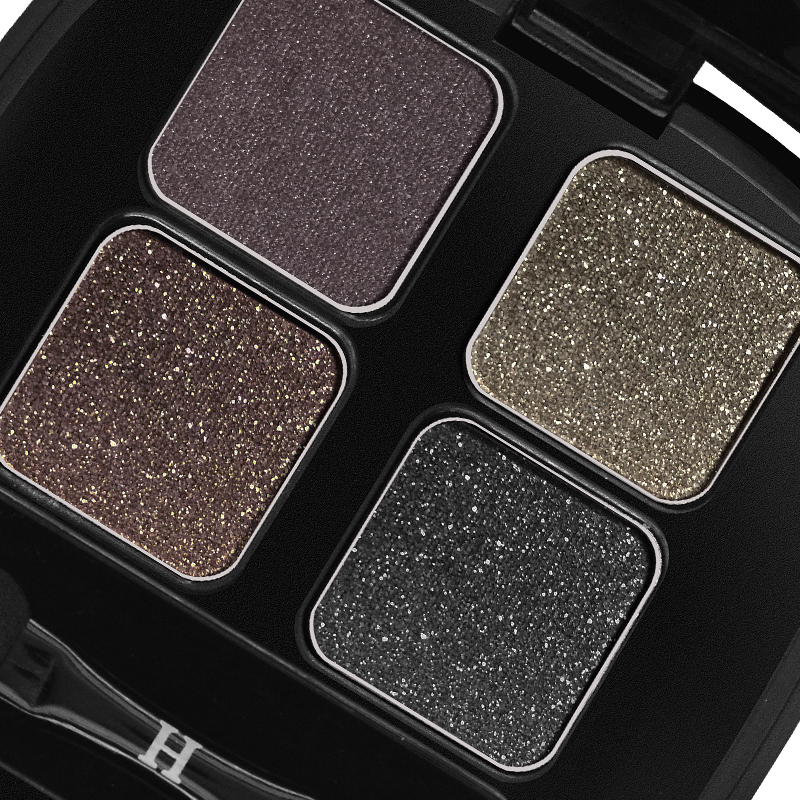 HENLICS Bright Shining Eyeshadow Palette with Eyeshadow Brush 4 Colors Per Set Glitter Eye Shadow for Eyes Makeup Cosmetics (12)