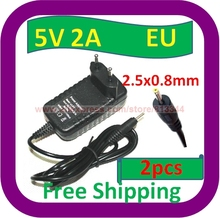 2 pcs Free Shipping 5V 2A EU Plug AC Adapter Charger Power Supply for Kodak M1033 M753 M763 Camera PSU(China)