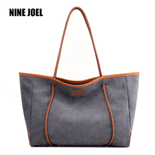 Woman Pure Colour Polyester Bags Shoulder Bag Female HandBags Crossbody Bag For Women White Tote Bags Casual Tote Canvas Bags