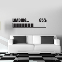 Free shipping Wall Stickers Vinyl Decal Loading Gamer Gaming Wall Sticker RoomMates Home Decor Wall Art Murals Design C05