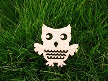welcome mix buying many style for you choose wooden Owl Brooch Pin(China)