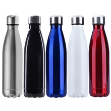 500ml Sports Water Bottle Cycling Camping Sports Stainless Steel Double Wall Vacuum vaso Insulation BOTTLES Keep Warmer Flasks(China)