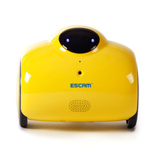 ESCAM Robot QN02 720P WiFi IP Camera Smart Web Cam Touch Interactive Move Laugh Automatically Charge Support Remote Video-Yellow