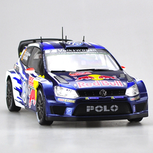 Brand New YJ 1/18 Scale Car Model Toys Volkswagen Polo R WRC Diecast Metal Car Toy For Gift/Kids/Decoration/Collection