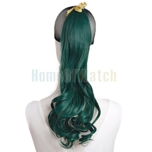 Dark Green Natural Synthetic  Curly Ponytail Hair Extensions (NWG0HE60924-PG2)