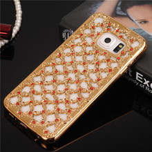 Hot Luxury Lace Diamond Floral Design Soft Case for Samsung Galaxy S7 S6 Edge S5 S4 S3 A3 A5 A7 J3 J5 J7 2016 Grand Prime Cover