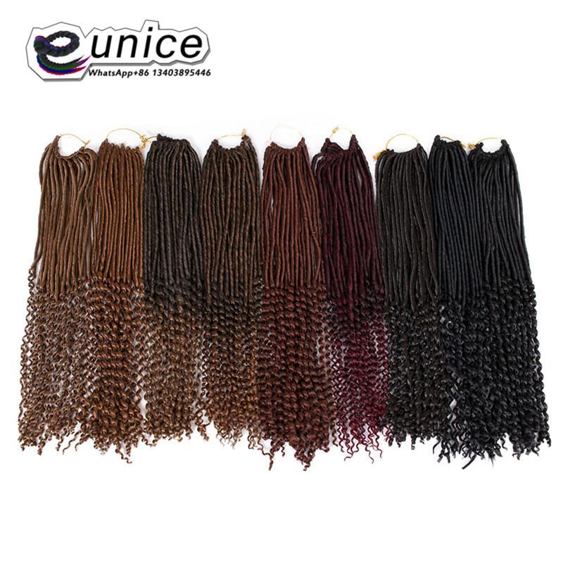 Goddess Faux Locs Crochet Hair Curly Ends Dreadlocks hair extensions  (66)