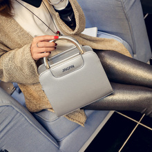 Bright side 2017 new leisure PU horizontal square hard to take the street trend single shoulder bag new product(China)