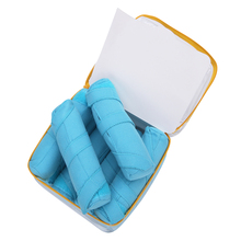 8Pc/set Hair Rollers Sleep Styler Kit Long Cotton Curlers DIY Styling Tools Blue Color Magic Hair Dressing Charming Hairstyle(China)