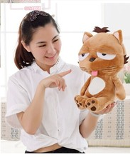 small cute lovely dinga toys plush big face lazy cat doll perfect birthday gift about 35cm(China)