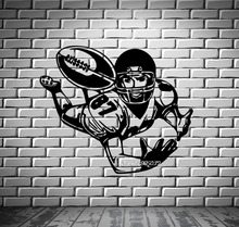 Football Wide Receiver Wall Stickers Quarterback Super Bowl Wall Mural Vinyl Art Decal Artistic Design Wall Tattoo  SA815