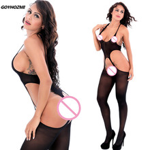Buy GOYHOZMI Women Sexy lingerie black Teddies Soft Net Large Exotic Apparel bodystocking Slim Open Crotch transparent Body Suit