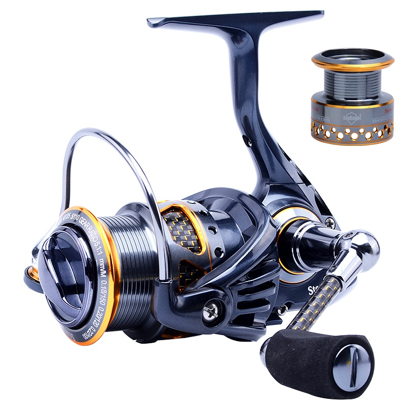 Corrosion Resistance Aluminum Spool Spinning Fishing Reel Saltwater Fishing Gear Carbon Fiber Drag and Real 11 BB 1000 2000<br><br>Aliexpress