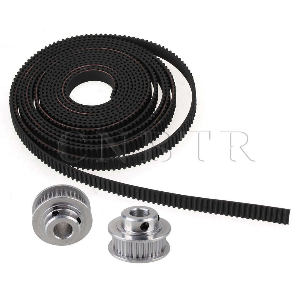 CNBTR GT2 36T 8mm Bore Timing Belt Pulley with 2mm Pitch Black Belt for Printer<br><br>Aliexpress