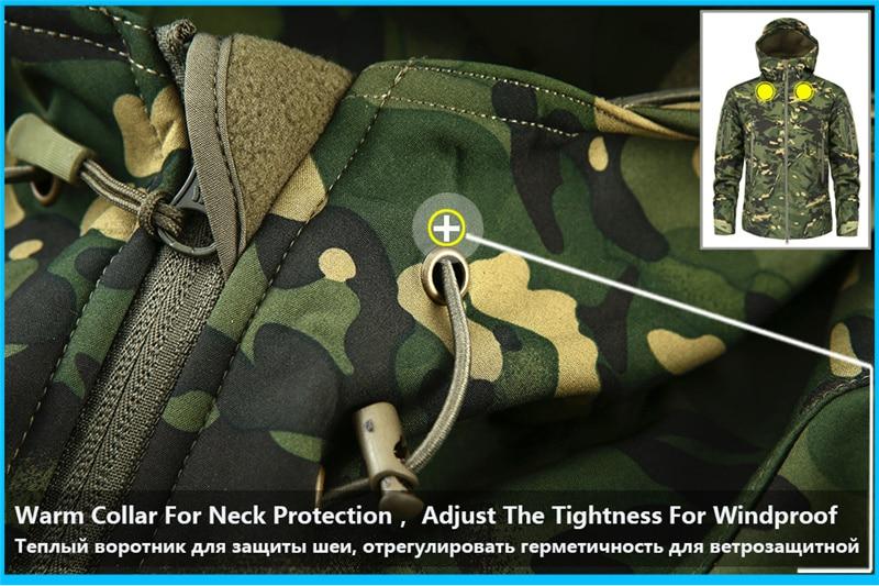 Mege Shark Skin Soft Shell Military Tactical Jacket Men Waterproof Army Fleece Clothing Multicam Camouflage Windbreakers 4XL 9