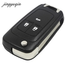 jingyuqin 20pcs/lot 2/3/4/5 Button Flip Folding Key Shell for Chevrolet Cruze Remote Key Case Keyless Fob Uncut HU100 Blade(China)