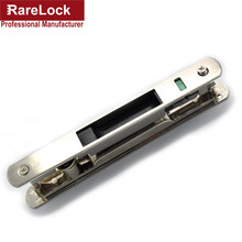 Rarelock Christmas Supplies Sliding Door Lock Interior Metal Nickel Color Locks Zinc Alloy with 2 Brass Key Funiture Latch d