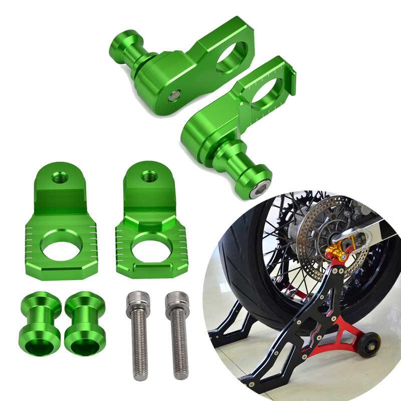 Swingarm Axle Block Sliders Chain Adjuster For Kawasaki Ninja ZX-6R 2009-2019