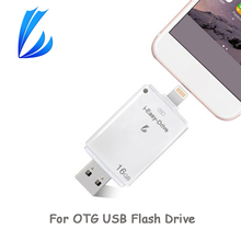 LL COMERCIANTE USB OTG Flash Drive 128 GB Pen Drive pendrive Chave Para iPad iOS Android iPhone PC Mini Flash Drive USB Memory Stick USB(China)