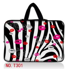 Zebra & Lips Notebook Computer Laptop sleeve bag case Handbag For ipad tablet PC 7 10 11 12 13 14 15 17 inch LOGO Customizable