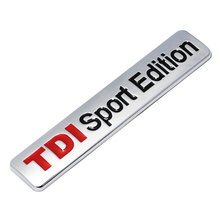 TDI Sport Edition Car Emblem Badge Decal Sticker Metal 3D Turbo Direct Injection Car Sticker for VW GOLF CC TT JETTA GTI TOUAREG