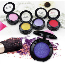 Lady Beauty Single Baked Eye Shadow Powder Palette Shimmer Metallic Eyeshadow Palette 24 Colors To Option