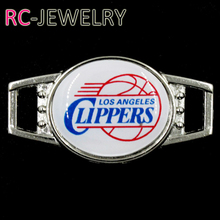 L.A. Clippers Shoelace Buckle Charms Basketball Team Charms For New Sneakers Sport Shoes Paracord Bracelets Decoration