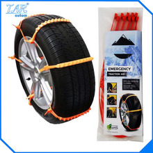 2017 Brand new 10PCS 12*1000mm Car Snow Tire Anti-skid Chains Dupont nylon resin PA66 tie for snow & dirt road(China)