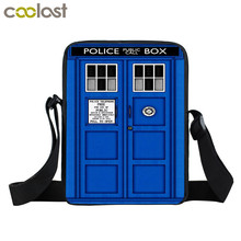 Doctor Who Messenger Bag Women Men Casual Travel Bag Kids Dr Who Mini Shoulder Bags Children Cross School Bags(China)