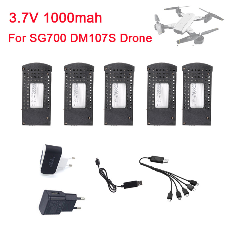 3.7V 1000mAh Rechargeable Lipo Battery For SG700 RC Folding Quadcopter Drones