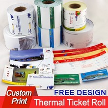 airline boarding pass, paper ticket thermal paper entrance printing ticket from factory(China)