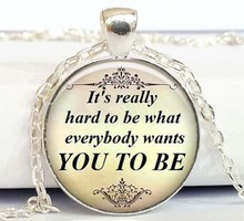 2017 New Trendy Demi Lovato Quote Necklace Song Lyrics Love Music Jewelry Chain Word Pendant Necklaces Glass Cabochon Pendants
