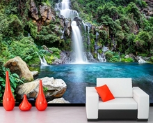 Parks Waterfalls Stones Nature wallpaper,living room TV wall bedroom kitchen Coffee shop restaurant bar wall custom 3d murals