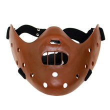 Hot Sale Film Movie The Silence of The Lambs Hannibal Lecter Mask Masquerade Halloween Cosplay Dancing Party Mask 3