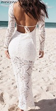 Buy Backless Lace White Beach Dresses Sexy Women Long Maxi Dress Vestidos Casual Mermaid Dress robe femme ete 2017 Sweet Elegant for $15.44 in AliExpress store