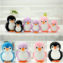 Cute Penguin Plush Toys 20-40cm Stuffed Nanoparticle Animals birthday gift kids toys Black/blue/pink/purple(China)