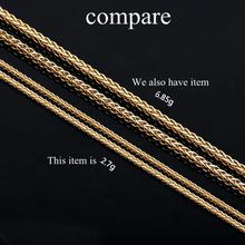 50CM 18K Yellow Gold Chain Necklace For Women Suitable for Pendant Fine Jewelry Real Chain think gold chain(China)