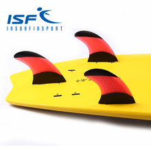 Red FCS surfboard fins quilhas prancha de Honeycomb fins surf fin with black paint