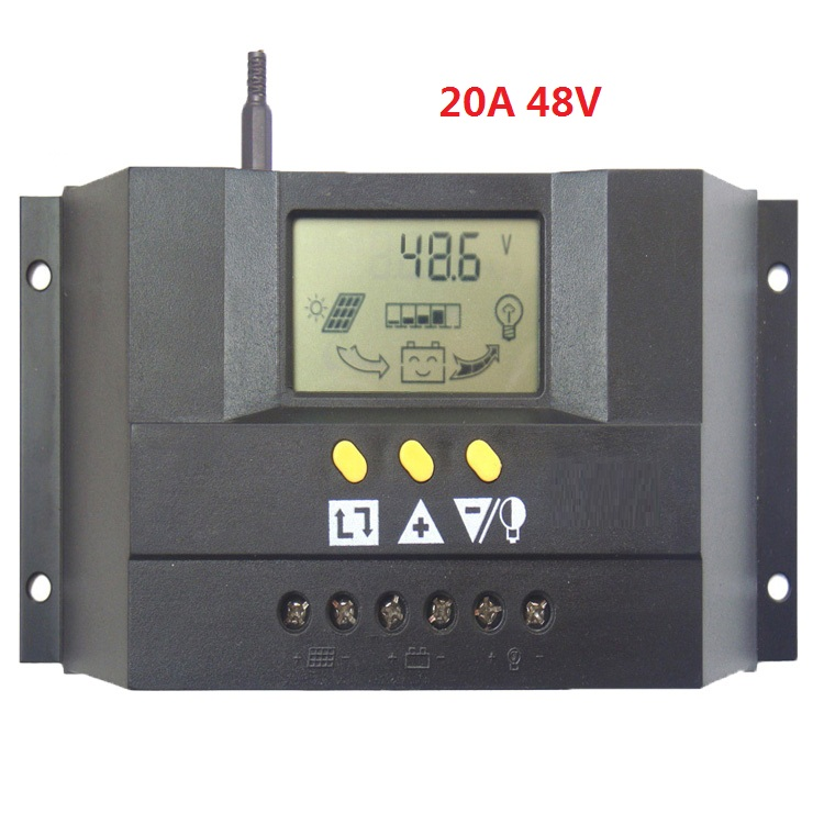 48V 20A Solar PV Charge controller with LCD display Solar Battery Charge Controller for 960W solar cells panels<br>