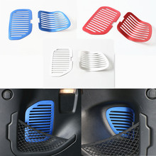 Newest Rear Trunk Liftgate Door Vent Mesh Trim Interior Accessories Aluminum For Jeep Renegade Free Shipping