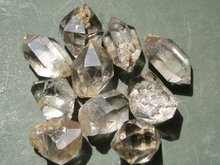 10 WONDER NATURAL LARGE CLEAR QUARTZ POINT ROUGH STONE