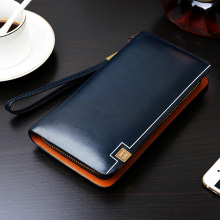 Baellerry Mens' Zipper PU Leather Wallet Men Clutch Hand Bag Male Fashion Clutch Purse