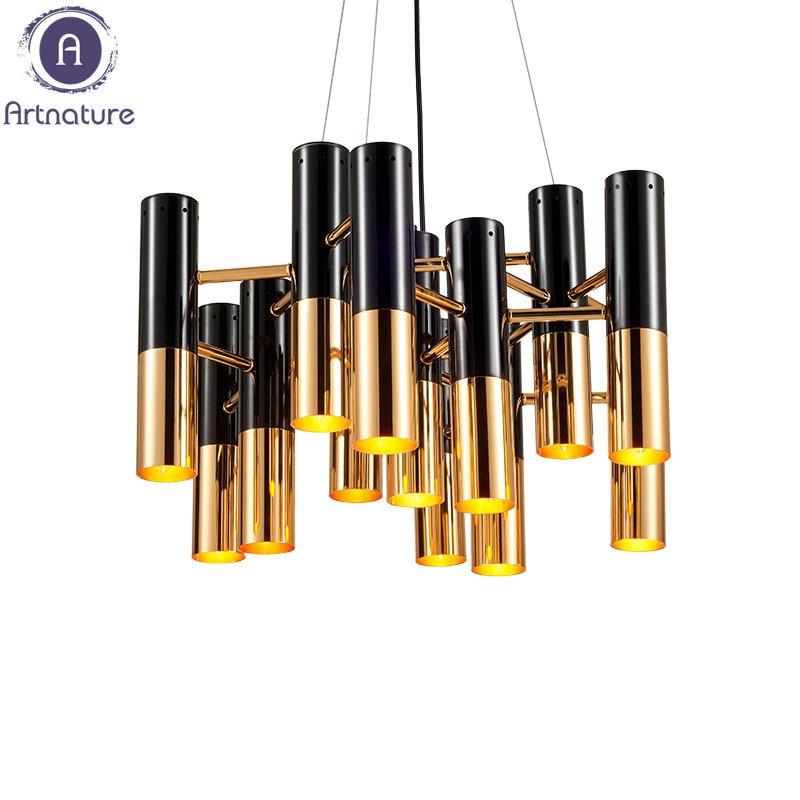 High Quality Modern Black Gold Led Pendant light for office bar hotels clubs livingroom bedroom<br><br>Aliexpress