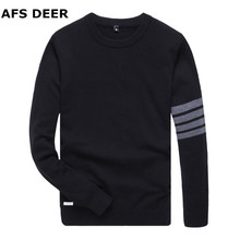 2017 New Autumn Fashion Brand Men Sweaters Pullovers Male  Knitting Thick Warm Designer Slim Fit Casual Knitted Man Knitwear