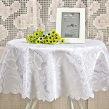 90cm round pure white  tablecloth ,table cover table decoration